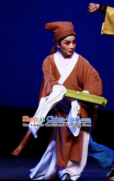 Chinese Yue Opera Xiaosheng Garment and Headwear A Chinese Ghost Story Shaoxing Opera Young Male Scholar Ning Caichen Apparels Costumes