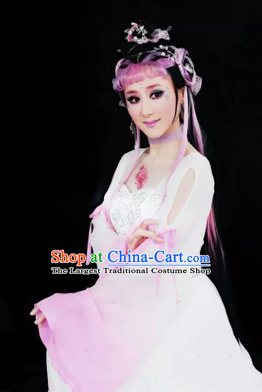 A Chinese Ghost Story Shaoxing Opera Fairy Nie Xiaoqian Apparels Costumes and Headpieces Yue Opera Actress Dress Garment