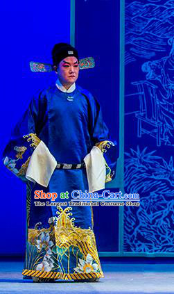 Chinese Kun Opera Nan Ke Dream Official Garment and Headwear Kunqu Opera Costumes Minister Apparels Clothing