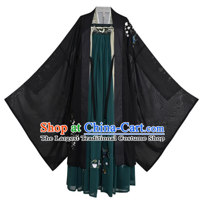 Chinese Traditional Tang Dynasty Princess Embroidered Hanfu Dress Ancient Palace Lady Garment Historical Costumes