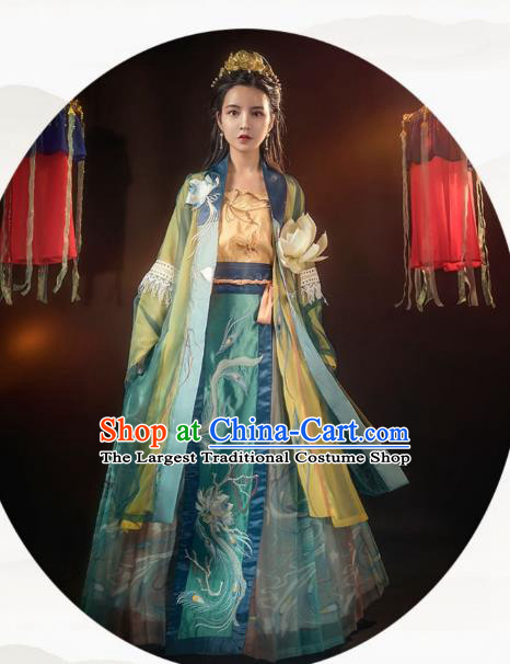 Chinese Ancient Young Lady Hanfu Dress Traditional Song Dynasty Apparels Historical Costumes Complete Set