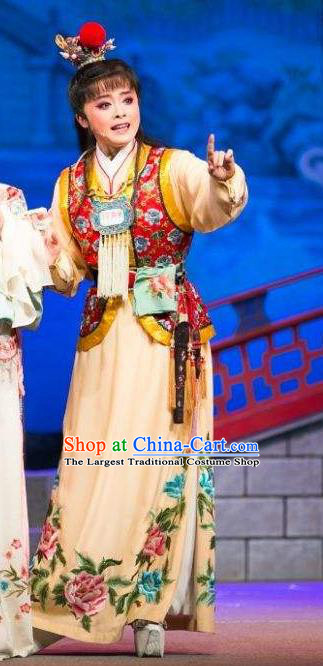 Chinese Classical Shaoxing Opera Noble Childe Garment Dream of the Red Chamber Costumes Yue Opera Young Male Jia Baoyu Apparels and Hair Ornaments
