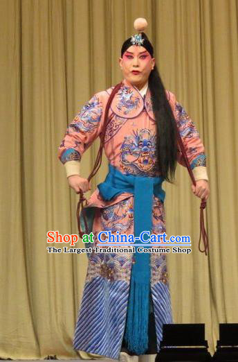The Arrogant Princess Chinese Ping Opera Wusheng Costumes and Headwear Pingju Opera Martial Male Apparels Clothing