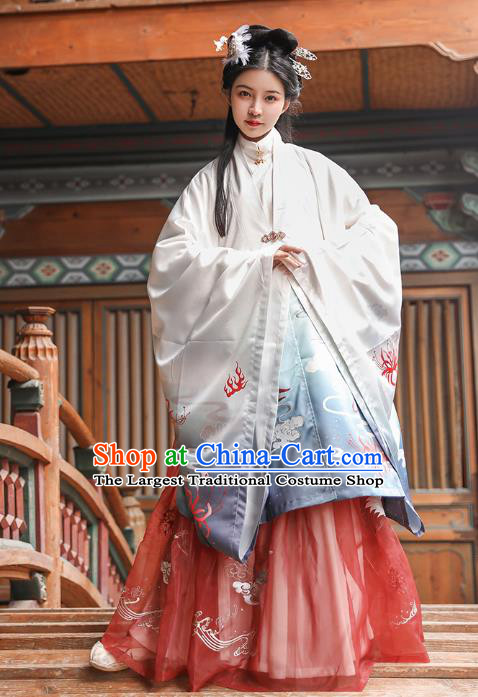 Chinese Traditional Hanfu Dress Apparels Ancient Ming Dynasty Noble Female Historical Costumes for Women