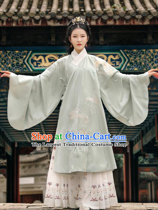 Traditional Chinese Noble Female Apparels Ming Dynasty Royal Princess Historical Costumes Ancient Embroidered Hanfu Dress