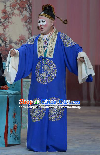 Su Xiaomei Chinese Peking Opera Chou Youth Garment Costumes and Headwear Beijing Opera Clown Apparels Clothing