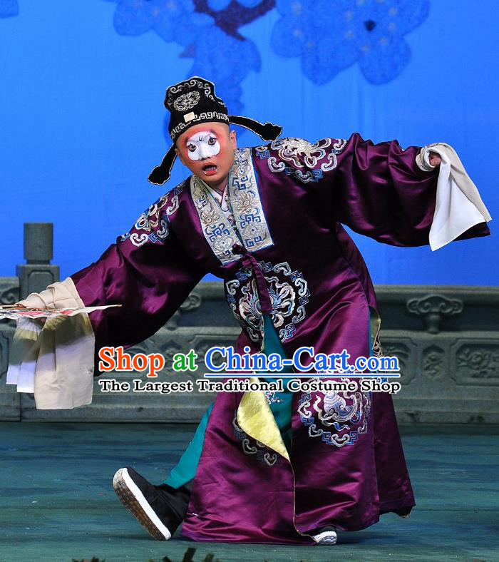 Su Xiaomei Chinese Peking Opera Clown Garment Costumes and Headwear Beijing Opera Young Man Apparels Clothing