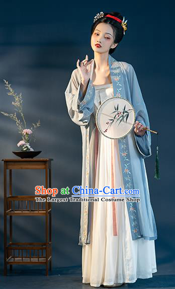 Chinese Ancient Patrician Female Hanfu Dress Apparels Traditional Song Dynasty Young Lady Historical Costumes Complete Set