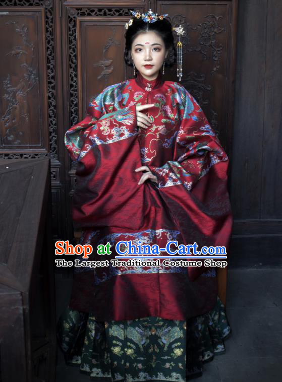 Chinese Traditional Ming Dynasty Imperial Madame Historical Costumes Ancient Royal Infanta Hanfu Dress for Women