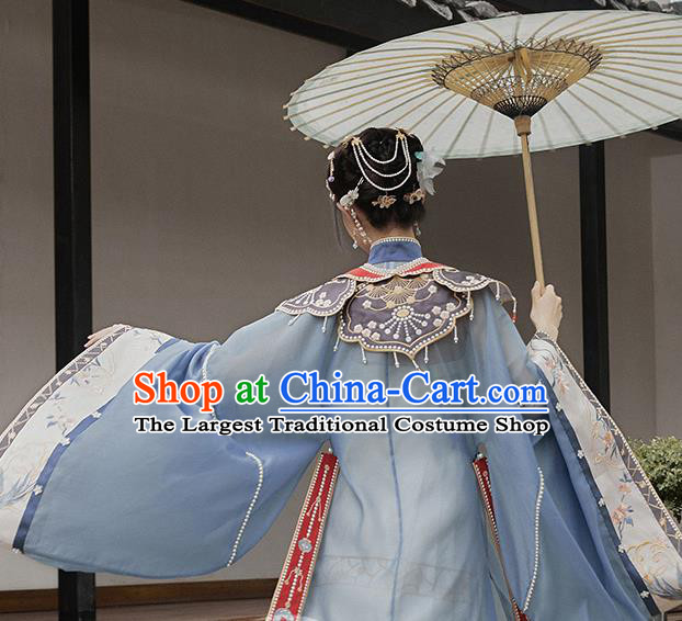 Chinese Traditional Ming Dynasty Nobility Lady Historical Costumes Ancient Royal Infanta Hanfu Dress Court Princess Garment