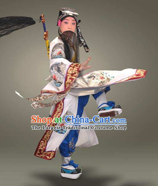 Ma Gu Xian Shou Chinese Peking Opera Laosheng Apparels Costumes and Headpieces Beijing Opera Old Man Garment Taoist Lv Dongbin Clothing