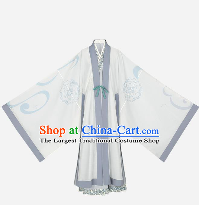 Chinese Ancient Swordsman Hanfu Garment Traditional Ming Dynasty Young Male Noble Childe Historical Costumes Complete Set