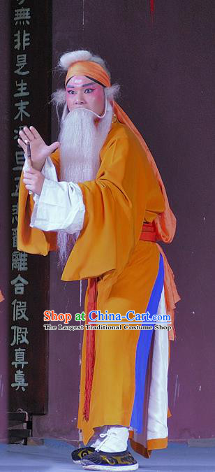 Chinese Sichuan Opera Laosheng Apparels Costumes and Headpieces Peking Opera Old Servant Chen Rong Garment Clothing