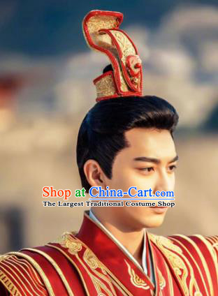 Traditional Chinese Handmade Hair Crown Ancient Tang Dynasty Prince Hair Accessories Headwear for Men