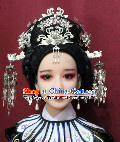 Traditional Chinese Ancient Queen Hair Jewelry Handmade Hairpins Hair Accessories Phoenix Coronet Complete Set