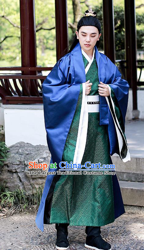 Chinese Traditional Ming Dynasty Swordsman Hanfu Clothing Ancient Drama Noble Prince Garment Historical Costumes for Men