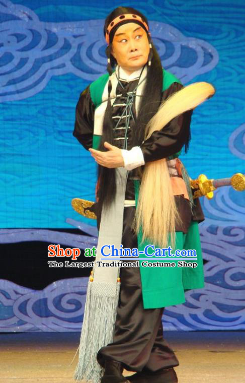 Xiang Jiuxiao Chinese Peking Opera Wusheng Garment Costumes and Headwear Beijing Opera Martial Male Apparels Clothing