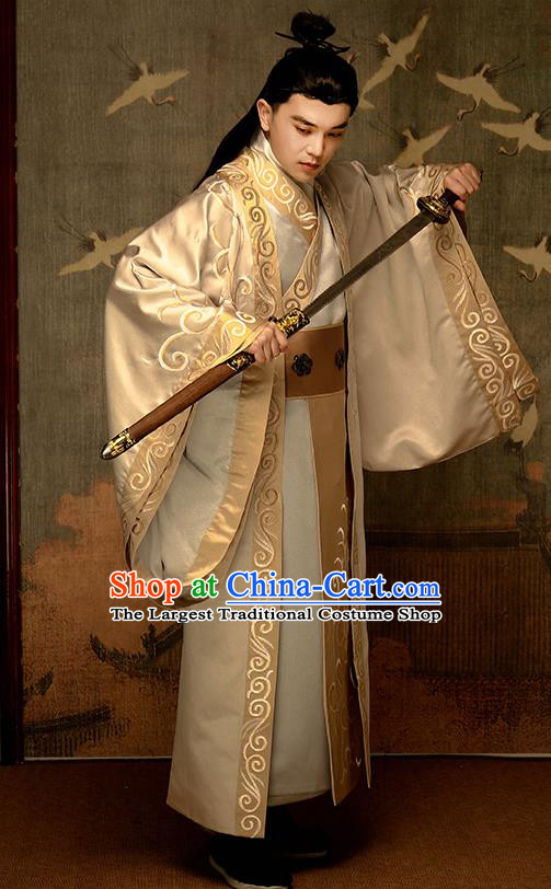 Chinese Traditional Ming Dynasty Nobility Childe Hanfu Clothing Ancient Drama Swordsman Garment Royal Prince Historical Costumes