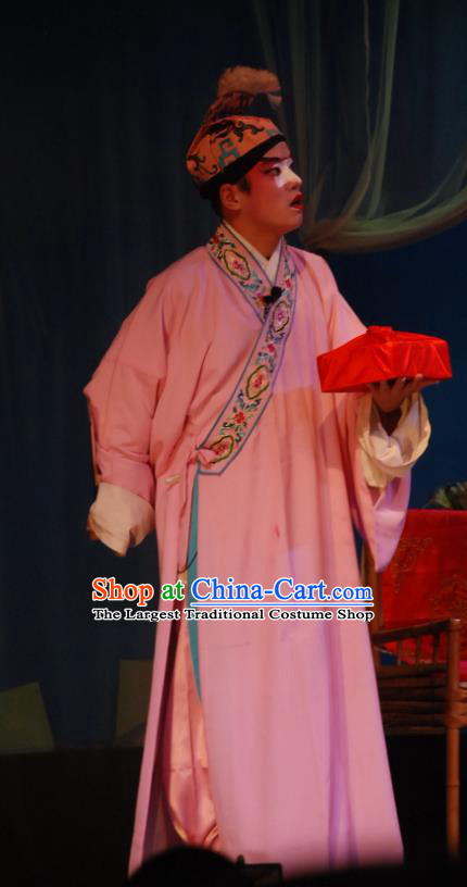 Fang You Chinese Sichuan Opera Young Male Apparels Costumes and Headpieces Peking Opera Xiaosheng Garment Clothing