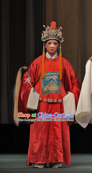 Drunkened Concubine Chinese Sichuan Opera Eunuch Apparels Costumes and Headpieces Peking Opera Garment Clothing