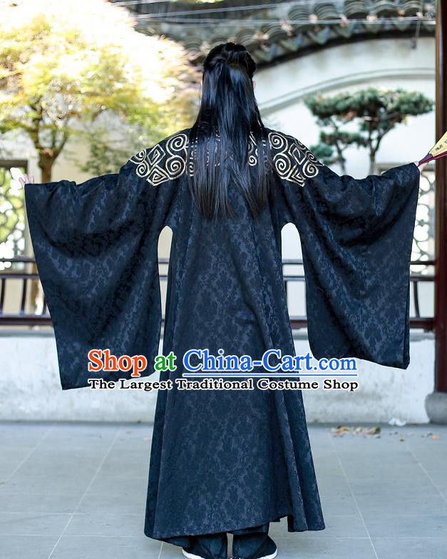 Chinese Han Dynasty Swordsman Historical Costumes Traditional Apparels Ancient Drama Prince Hanfu Clothing for Men