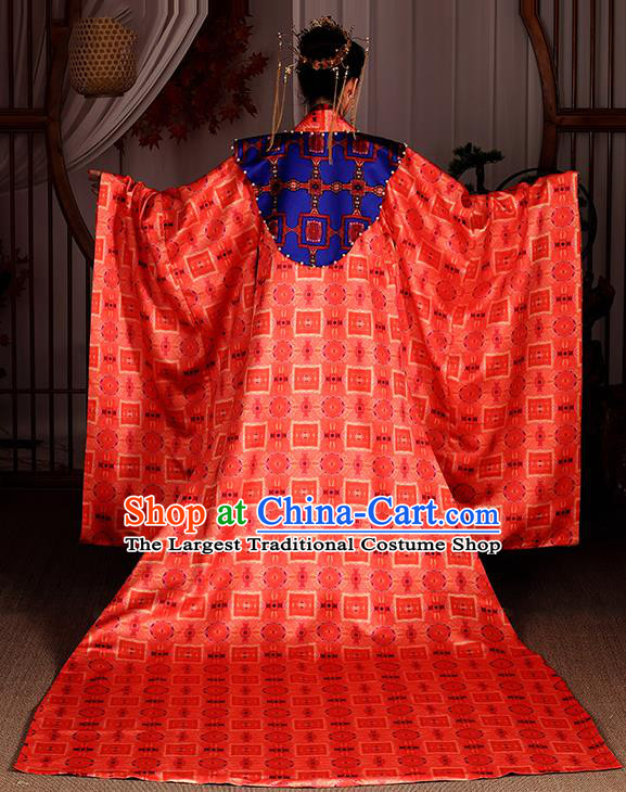 Chinese Traditional Ancient Drama Apparels Song Dynasty Court Empress Hanfu Dress Queen Historical Costumes Complete Set