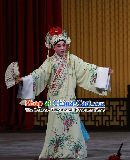 Fa Men Temple Chinese Peking Opera Scholar Fu Peng Garment Costumes and Headwear Beijing Opera Xiaosheng Apparels Young Man Clothing