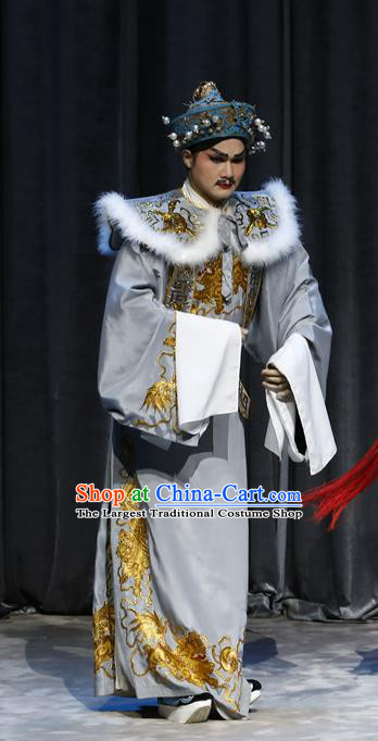 General Ma Chao Chinese Guangdong Opera Official Apparels Costumes and Headpieces Traditional Cantonese Opera Childe Garment Prince Clothing