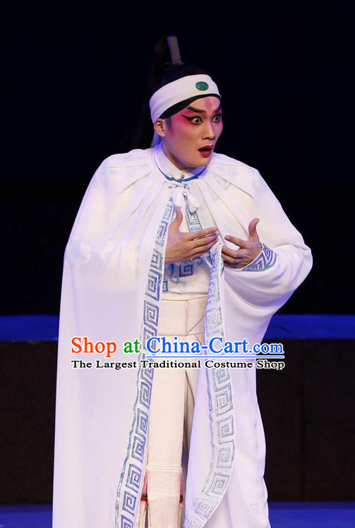 General Ma Chao Chinese Guangdong Opera Takefu Apparels Costumes and Headpieces Traditional Cantonese Opera Wusheng Garment Martial Male Clothing