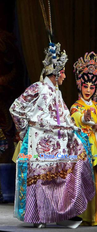 Diao Man Gong Zhu Gan Fu Ma Chinese Guangdong Opera Prince Consort Apparels Costumes and Headpieces Traditional Cantonese Opera Young Male Garment Clothing