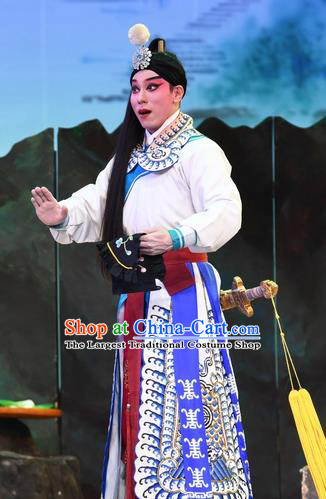 Chinese Guangdong Opera Xiaosheng Apparels Costumes and Headpieces Traditional Cantonese Opera Young Male Garment Prince Clothing