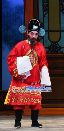 Chinese Guangdong Opera Magistrate Apparels Costumes and Headpieces Traditional Cantonese Opera Official Garment Clown Clothing