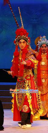 The Lotus Lantern Chinese Guangdong Opera Er Lang God Apparels Costumes and Headpieces Traditional Cantonese Opera General Garment Armor Clothing
