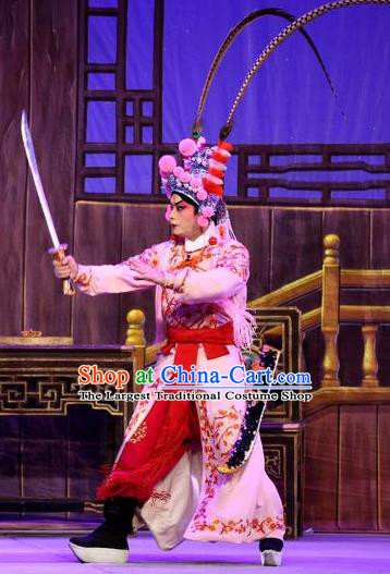 Chinese Guangdong Opera Takefu Apparels Costumes and Headpieces Traditional Cantonese Opera Wusheng Garment Martial Male Clothing