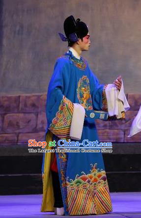 Chinese Guangdong Opera Xiaosheng Apparels Costumes and Headpieces Traditional Cantonese Opera Young Male Garment Official Clothing