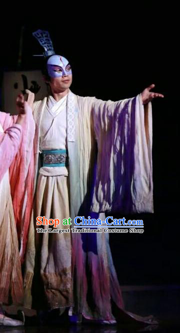 Chinese Traditional Three Kingdoms Period General Clothing Stage Performance Historical Drama The Legend of Zhuge Liang Apparels Costumes Ancient Strategist Zhou Yu Garment and Headwear