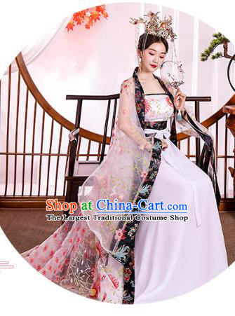 Chinese Ancient Drama Goddess Hanfu Dress Apparels Traditional Tang Dynasty Royal Princess Historical Costumes Complete Set