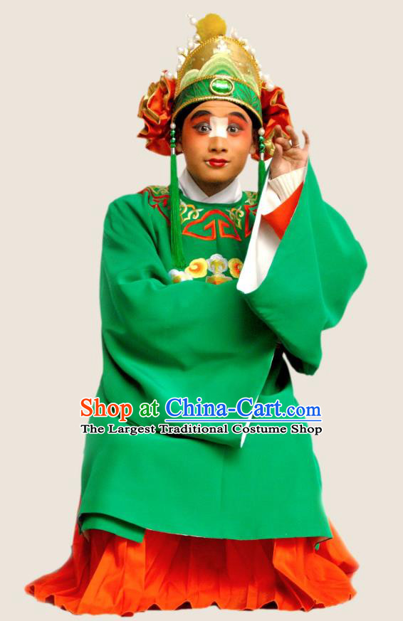 Princess Turandot Chinese Sichuan Opera Clown Apparels Costumes and Headpieces Peking Opera Highlights Gnome Garment Clothing