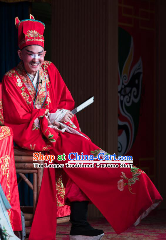 Chinese Sichuan Opera Childe Apparels Costumes and Headpieces Peking Opera Highlights Garment Bully Ma Sancai Clothing