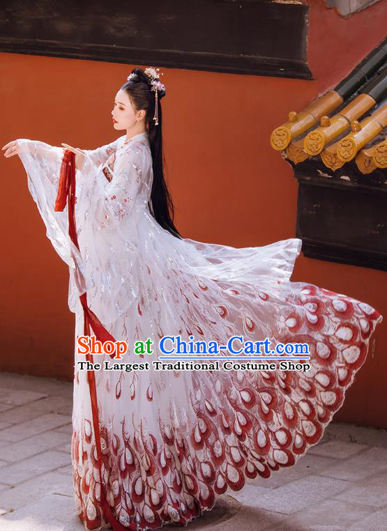 Chinese Ancient Princess Hanfu Dress Apparels Traditional Tang Dynasty Royal Infanta Historical Costumes Complete Set