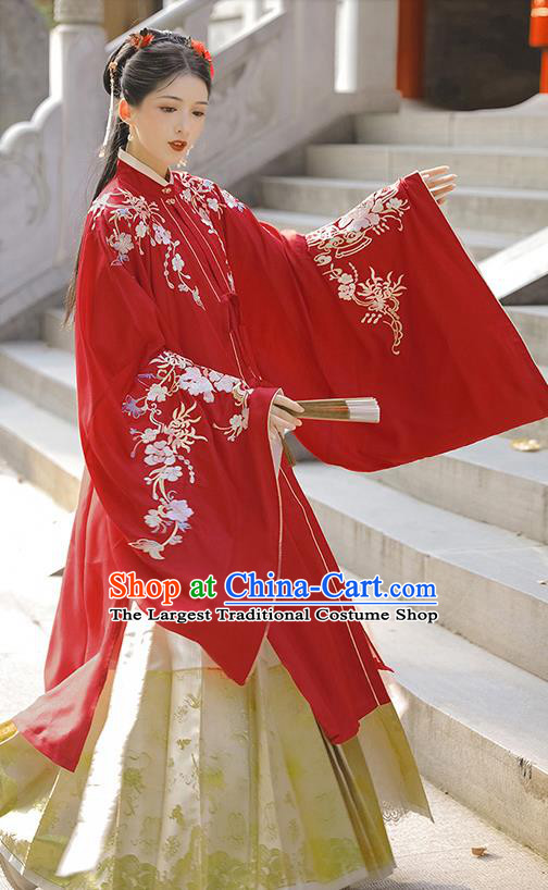 Chinese Ancient Nobility Lady Hanfu Dress Apparels Traditional Ming Dynasty Royal Infanta Historical Costumes Complete Set
