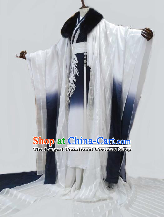 Top Chinese Cosplay Swordsman Gu Yun Costume Ancient Young Knight Hero Clothing for Men