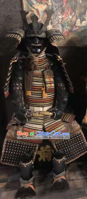 Japanese Traditional General Body Armor Outfits Ancient Film Warrior Shogun Armour Costumes and Helmet for Men