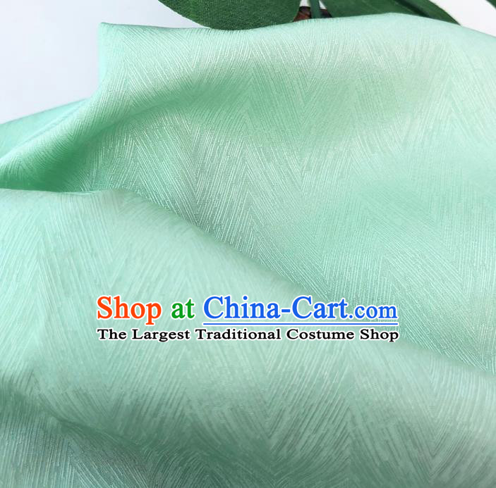Top Quality Chinese Light Green Satin Fabric Traditional Asian Hanfu Dress Cloth Silk Material Traditional Jacquard Tapestry