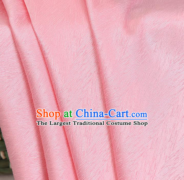 Top Quality Chinese Pink Satin Fabric Traditional Asian Hanfu Dress Cloth Silk Material Traditional Jacquard Tapestry