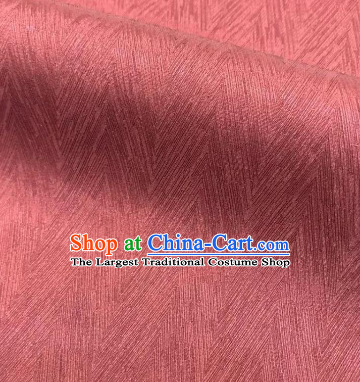 Top Quality Chinese Maroon Satin Fabric Traditional Asian Hanfu Dress Cloth Silk Material Traditional Jacquard Tapestry