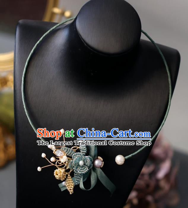 Baroque Handmade Beads Necklace Jewelry Accessories European Retro Necklet for Women