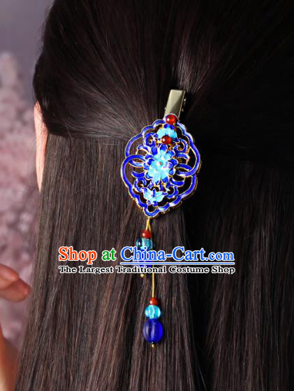 Chinese Traditional Cloisonne Hair Claw Hair Accessories Decoration Handmade Hair Accessories Hair Stick for Women