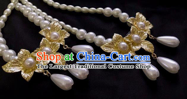 Top Grade Chinese Classical Ming Dynasty Necklet Jewelry Accessories Handmade Ancient Hanfu Beads Necklace for Women