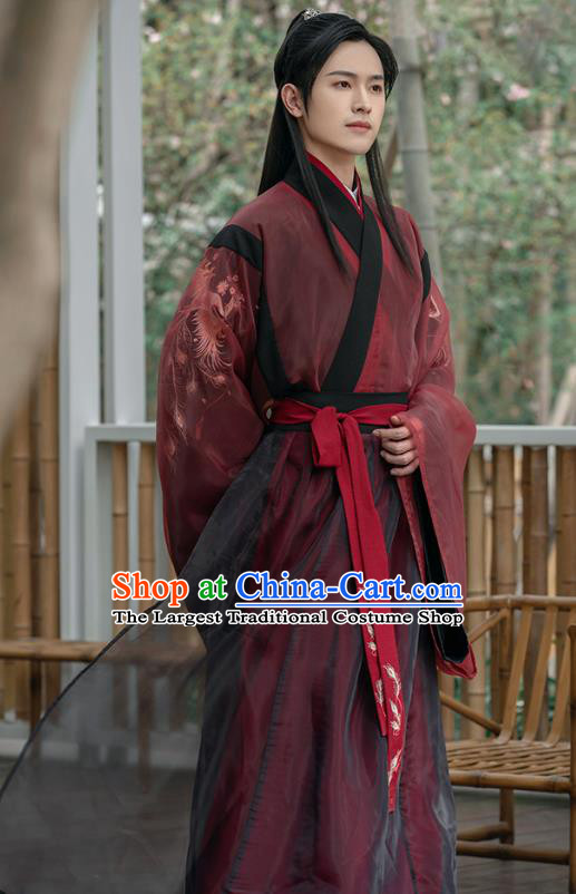 Traditional Chinese Jin Dynasty Noble Childe Hanfu Apparels Ancient Swordsman Historical Costumes for Men